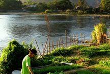 The natural beauty of Vang Vieng / Various views of Vang Vieng and its natural beauty
