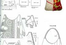 japonské tašky / šité tašky