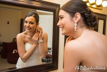 Examples of Bride and Groom Prep Photos / When we come to take pictures on your special day, we usually like to come an hour before the ceremony to get pictures like these (of the couple getting ready before the ceremony).