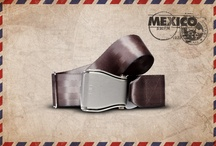 Grey Mexico - Fly-Belts aicraft seat belts redesigned as fashion accessories / Designed by and for international travelers, Fly-Belts are adapted airplane seat belts recast to fit all types of pants and jeans. Express & share your frequent flyer experience with this original travelwear.  - Color : Grey Mexico - One way pack : 1 buckle + 1 belt - 2 available sizes for buckle thickness and belt's webbing width - Original (48mm) and Slim (38mm) - One length fits all - Airline resistant webbing. Aluminium buckle