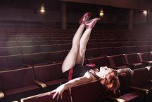 Kuje goes burlesque / Katja Lösönen Photograpty & burlesqueartist Miss Acrolicious with Kuje shoes in authentic Kuopio Kino Kuvakukko.  //Laura