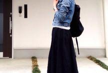 マキシ スカート