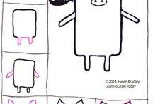 egyszerű rajzok