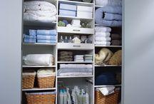 Organised Linen Cupboard