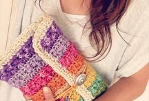 knitted and crocheted inspiration bag