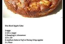 MM / One Bowl Apple Cake