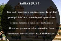 Sabias que? / Datos curiosos de la ciudad del Cusco y Machupicchu