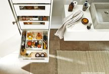 Bathroom / Ideas, inspiration and practical solutions from Blum for furniture in your bathroom.