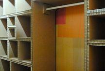 muebles de cartón y palé