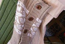Новогодние носочки и варежки для подарков