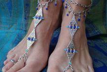 Украшение на ножку / Wedding Foot Jewelry Sandals