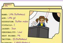Web Comics: Little Buttonhead / Little Buttonhead web comics collection about a weird little girl, her friends, and their adventures.