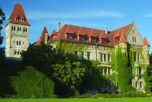 Our Castle - our Heritage / Our so-called New Castle was constructed in just three years (1903-1906) after the marriage of Baroness Ottilie von Faber to Count Alexander zu Castell-Rüdenhausen. The styles vary from #romanesque, #gothic, #renaissance to empire, #classicism and #ArtNouveau. Balls and receptions for aristocrats, politicians and businessmen were held in the festive halls. The bathrooms with their marble baths are a jewel from the art nouveau period.