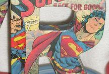 Comic book Super Hero crafts / DIY, inspiration to make