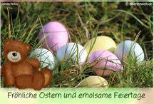 Ostergrüße / Bärige und neutrale Osterkarten