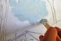 Pintando em tela- Professor  Sandro