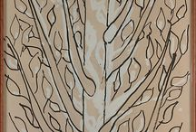 Trees and Plants - drawings and paintings / Plants and Art - together the make sweet music