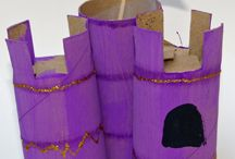 Kids : cardboard and paper roll