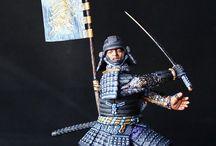 figurines combattant asiatique