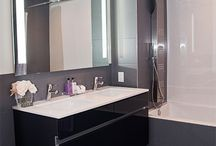 High-Gloss Bathroom / Custom bathrooms built with Premier EuroCase's  Reflekt high gloss.