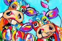 vrolijke schilderijen
