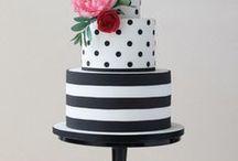 Черно белый торт