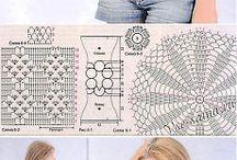 háčkované topy vzory