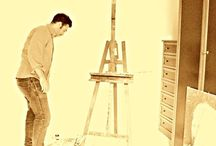 My Paintings / Agida Upon dirty art  #making of  Me at work