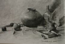 How to draw still life / A step-by-step demonstration on still life drawing, drawing tutorials