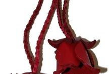 Keyrings tassels, flowers