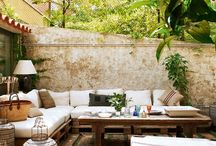 buitenruimte / Sfeerideeën voor de patio in la casa del pueblo