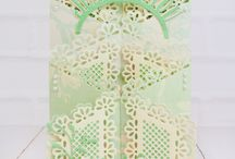 Tattered lace cards