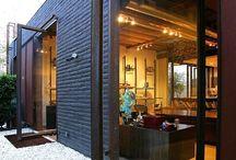 Buiten muur/raam ideeën / Ideeën om een scheiding te maken tussen buiten en binnen bij de nieuwe keuken