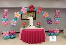 1 Years Balloons decorations / Four J Party is on Miami and Broward, this 1 year decoration can be outside and inside, you can choose all colors of balloons and design