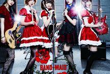 Band-Maid / Japanese rock band,the Band-Maid. Members: Saiki,Miku,MISA.Kanami,Akane