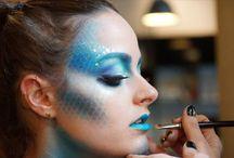 Meerjunfrau Make-up