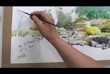 aquarel video's