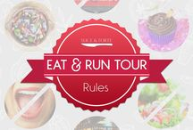 Eat & Run Tour Summer 2015 / It's our first food adventure! No summer is complete without a road trip, so we're touring the American South in search of the best food and drink two historic cities have to offer: Charleston, South Carolina and Savannah, Georgia. From July 10 to July 13, we'll be eating our way through both cities with guided food tours, restaurants galore, mixology demonstrations, and more. Follow this blog as we live blog our meals and misadventures.