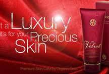 VELVET LOTION / Enjoy luxuriously soft skin with this rich, indulgent body lotion. Macadamia nut oil gives the skin a moisture boost and our organic Ganoderma lucidum nourishes the skin's cells for a velvety smoothness. / by geniusofcoffee .com