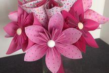 Bouquet de mariée original en papier origami / bouquet de mariée en papier origami (fleurogami)