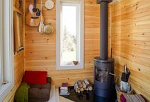 Lovely Tiny and Yurt Living / tiny house, yurt, cabin, interior, wooden, wooden interior, living