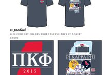Game Day / Greek sorority and fraternity custom shirt designs featuring game day themes. For more information on screen printing or to get a proof for your next shirt order, visit www.jcgapparel.com