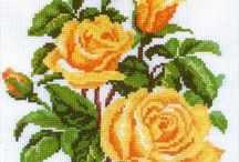 ✔kanaviçe gül  çiçek sablonlari