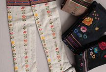 Floral Embroidery / Stickerei, Blumenstickerei, ungarische Bekleidung, ukrainische Bekleidung, bestickte Bekleidung, Tracht, Dirndl