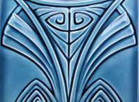 Art Nouveau, Art Deco, Victorian Transferware Tile. / by Valentina Ptytsya