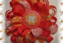 Ribbon flower bows / by Griselda Burruel