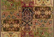 alfombra de lana en tela metalicas