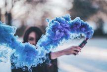 Цветной дым серия