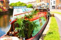 Narrow River Boats / I love seeing these boats on the rivers in England...