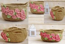 Crochet Baskets / Crochet baskets